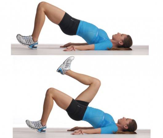 Single leg glute bridge - Lose Weight